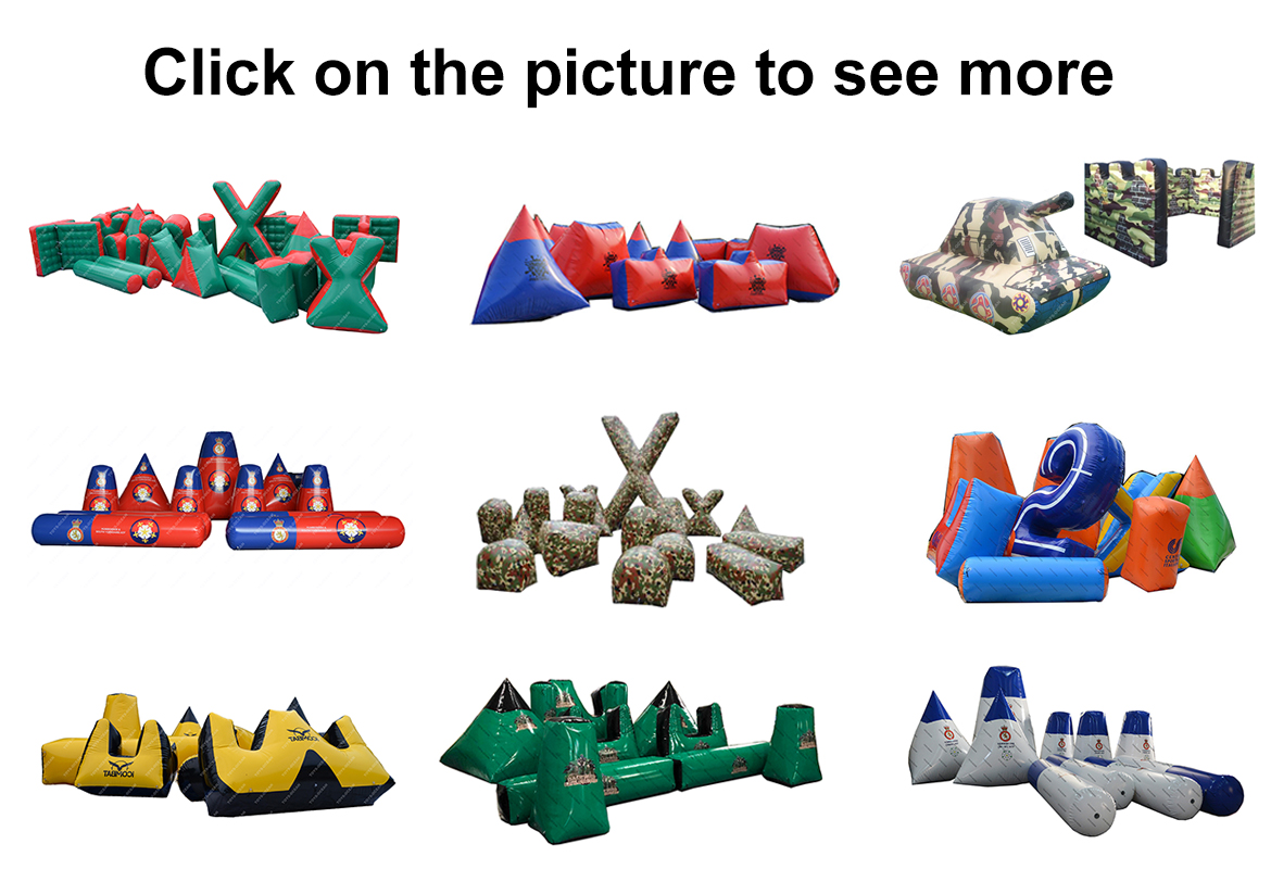 paintball bunker set inflatable